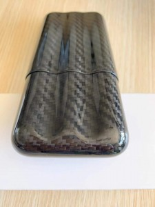 Carbon fiber cigar case logo and color customized