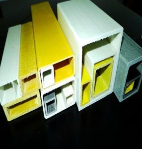 Fiberglass square tubes