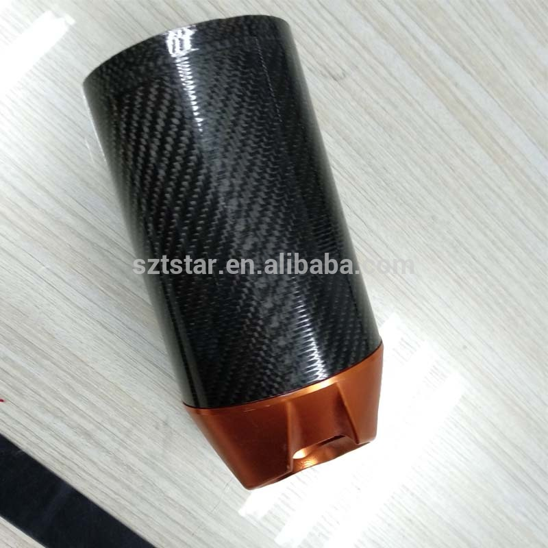 OEM custom Carbon Fiber Exhaust Funnel for motorcycle/car Exhaust pipe carbon fiber