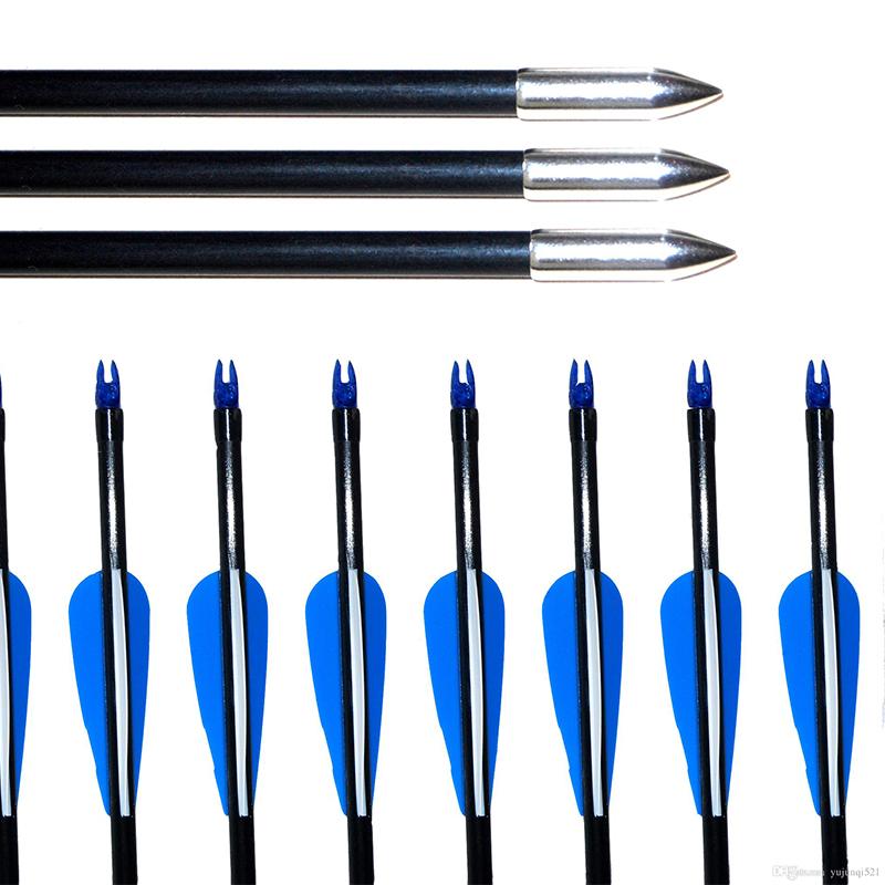 Hunting crossbow arrow shaft ,carbon arrow shaft ,fiberglass crossbow arrow