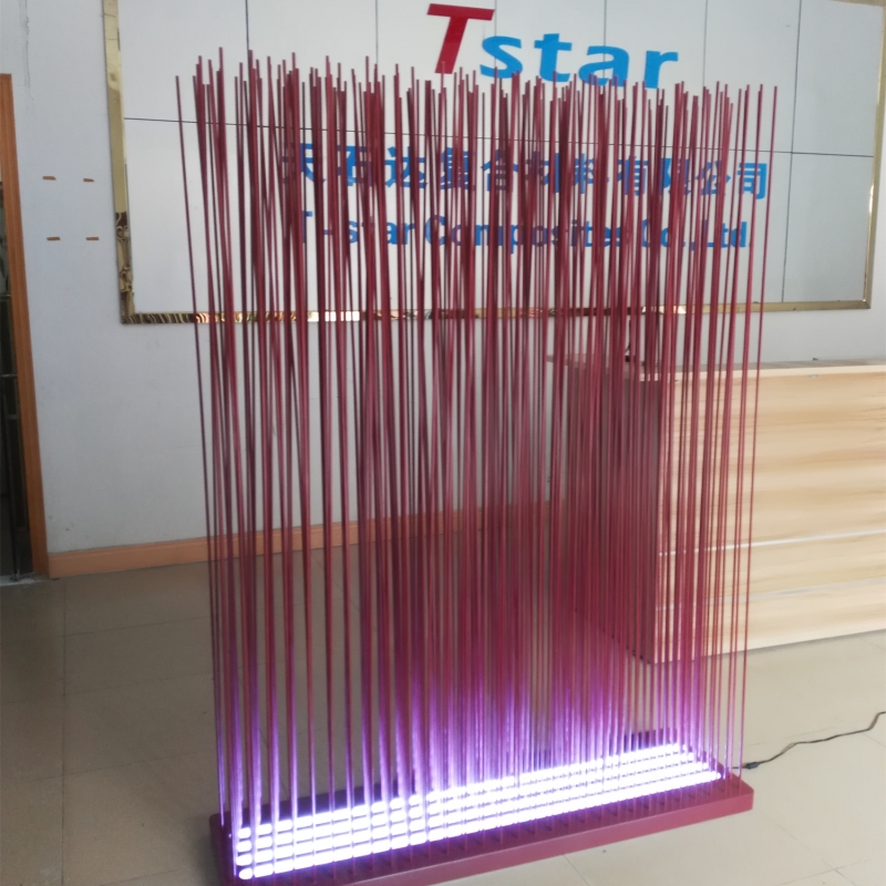 Transparent  stickers room divider sticks outdoor use /office room divider  screen with led lighting
