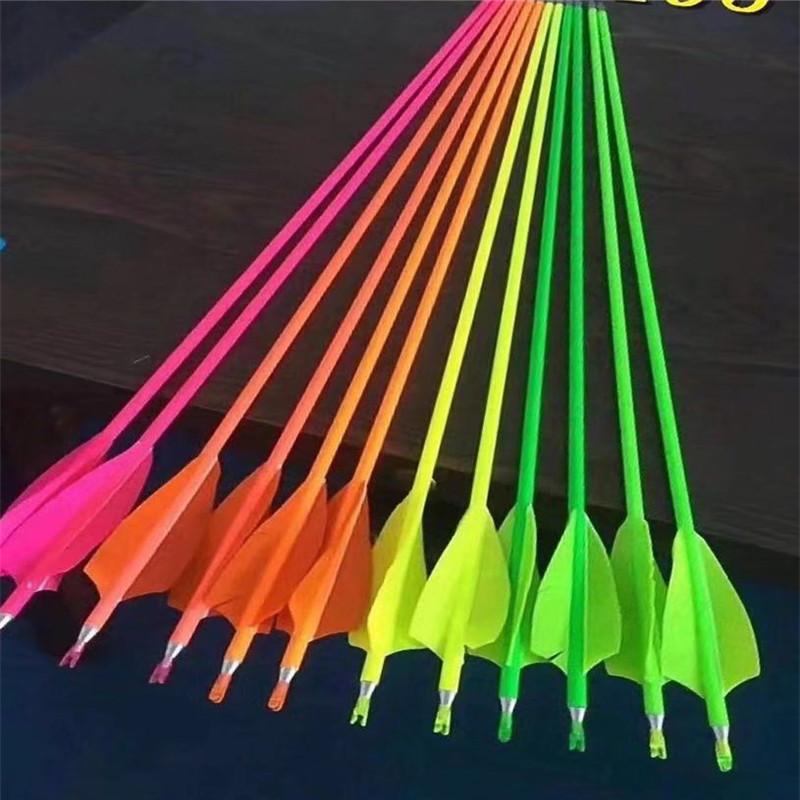 carbon archery bow  carbon arrow shaft  crossbow arrow straightness 0.001 spine 300 with real feather