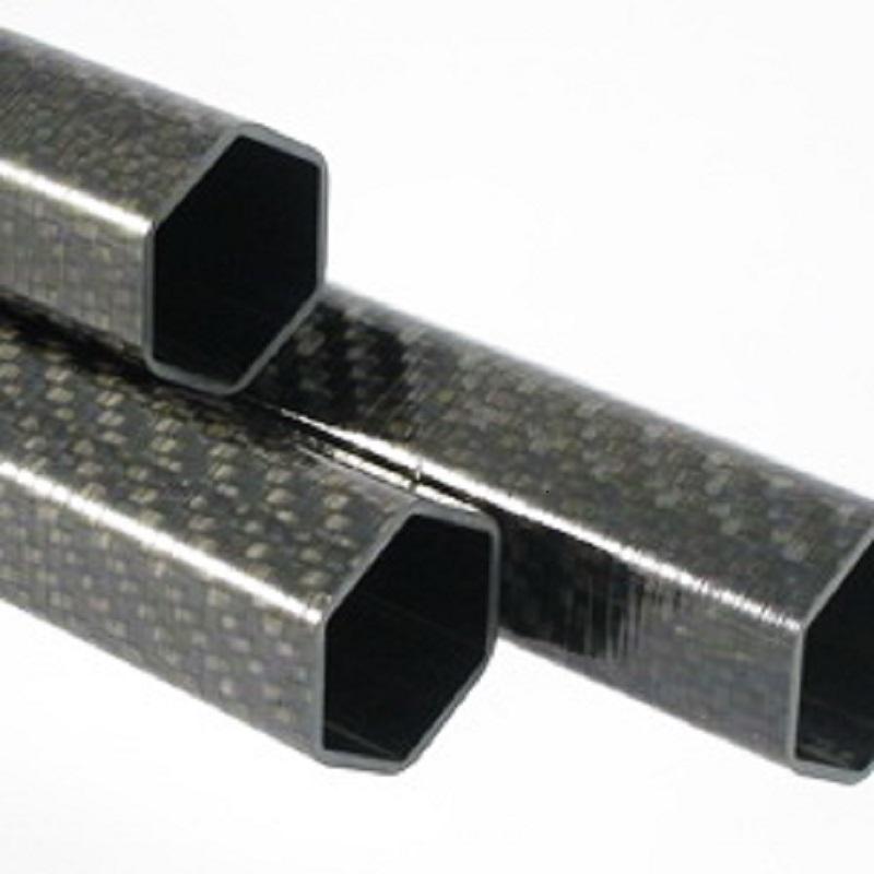 3K Glossy Matt 16mm Hexagonal Carbon Fiber Tube In High Quality