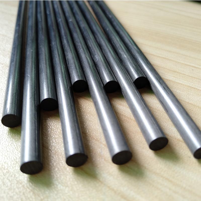 4 mm 4.5mm 5mm 6mm composite solid carbon fiber rods, CF carbon fiber epoxy rod