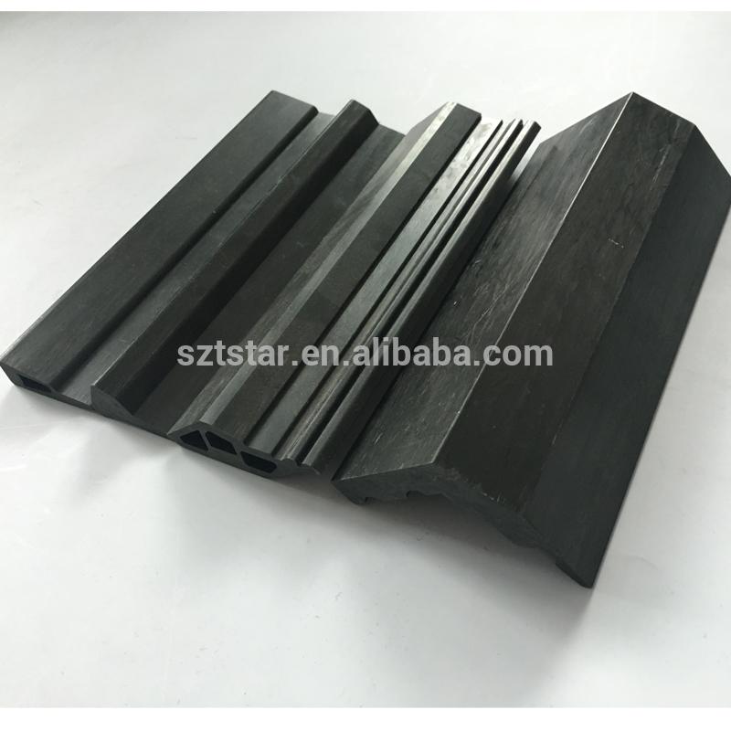 2018 V shaped 100% carbon fiber profiles,composite strong FRP/CFR profile, Custom Pultruded carbon fiber profiles