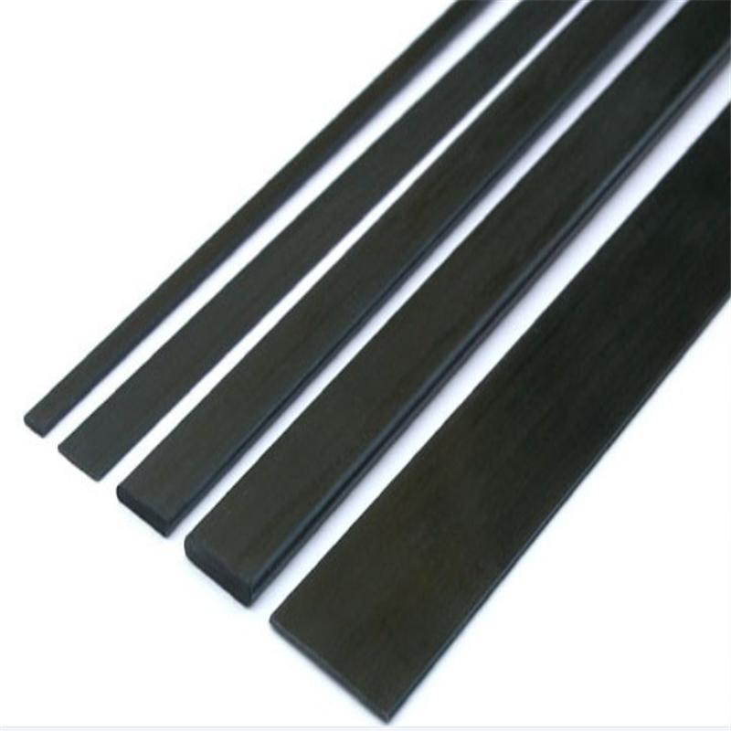 Pultrusion carbon fiber flat bar   carbon stripe