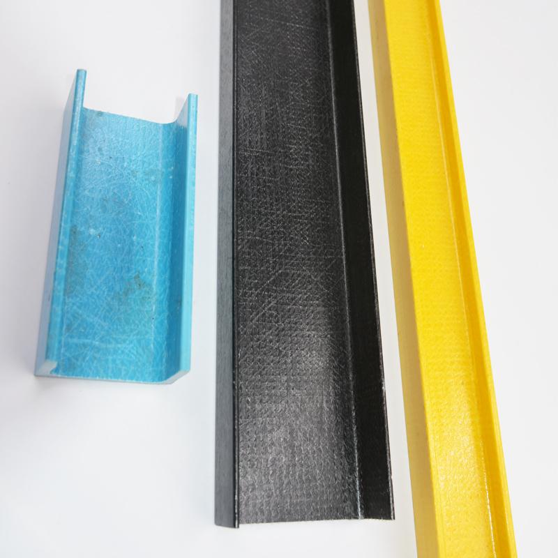 Colorized OEM/ODM custom profile fiberglass U Shape, u/c beams profiles manufacturers, GRP /FRP profiles fiberglass