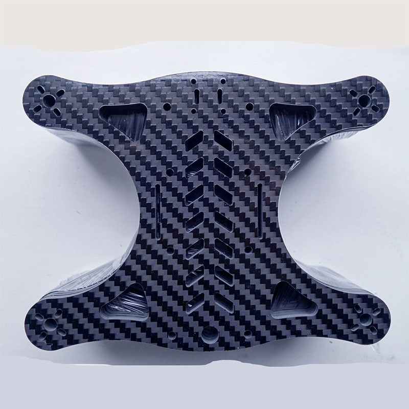 Carbon Fiber Drone Frame CFRP Aircraft Model Bracket Manufacturer Processing Carbon Fiber UAV Parts
