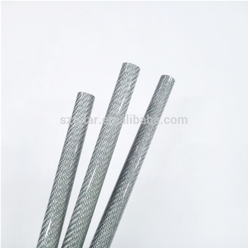 Silver color fibreglass pipe,excellent quality FRP tube,10-25mm dimeter fiberglass tube