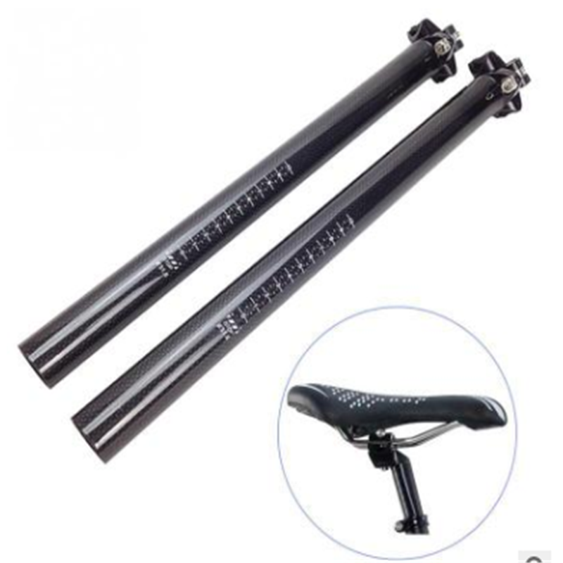 3k twill Toray T800 Bike Parts Carbon fiber bicycle seatpost with tube of 27.2/30.8/31.6mm