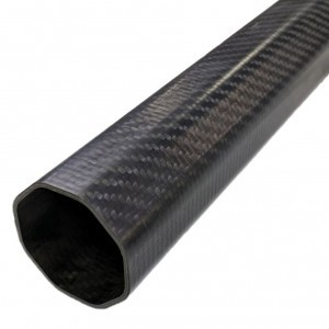 Pure 100% carbon fiber octagon tube pipe with corrosion resistance