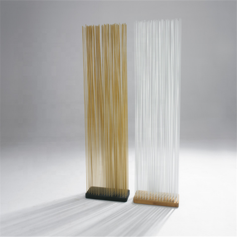 Restaurant/ office room divider screen with led lighting/ divider panels with sticks for outside