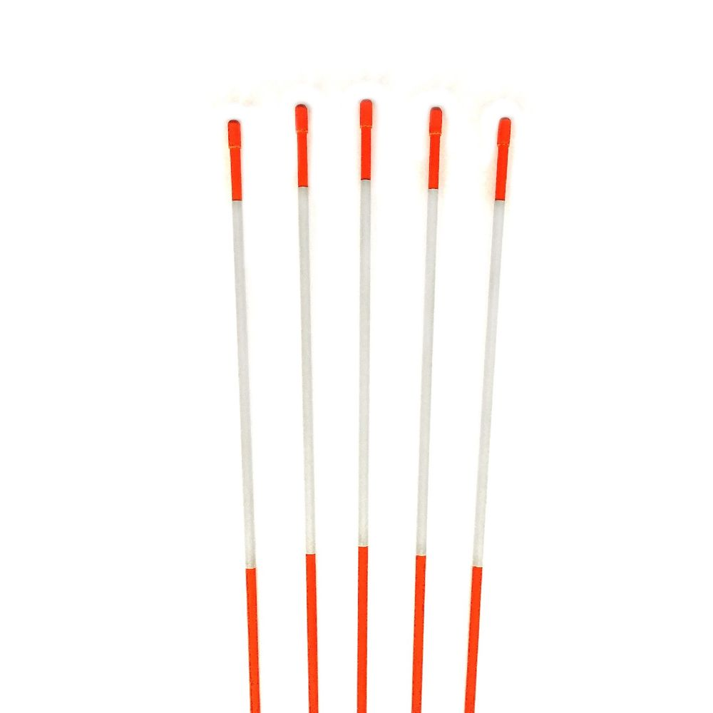 5/16 Inch Fiberglass Snow Stake,High Grade Orange Reflective Driveway Markers With Pointed End