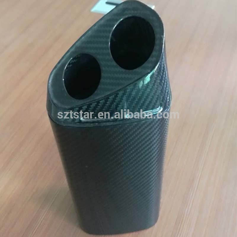 OEM custom Carbon Fiber triangle Exhaust Funnel ,triangle carbon fiber Exhaust tube,pipe