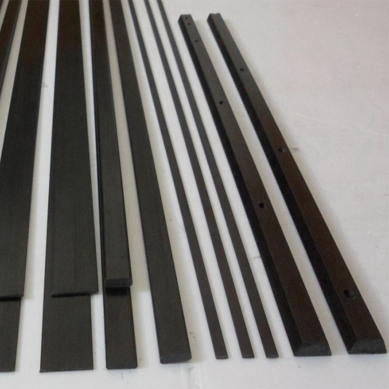 Carbon Flat Rectangular Rod Pultruded Strip 0.8mm 1mm 2mm 3mm