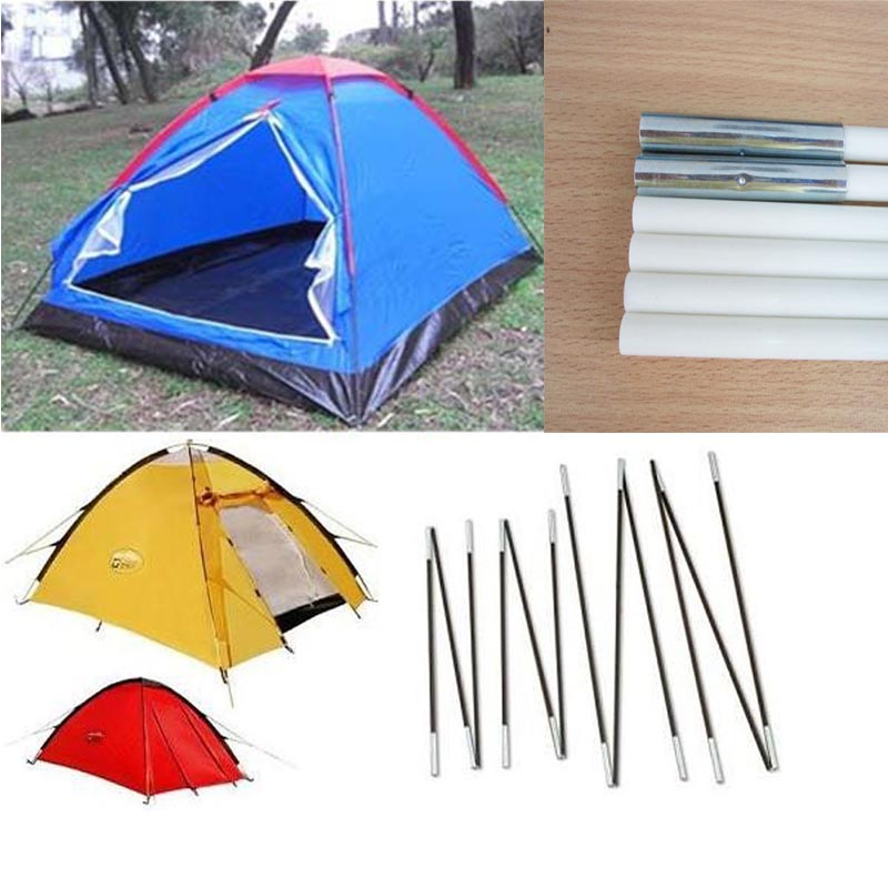 Black White Adjustable 5/16 Inch Outdoor Fiberglass Tent Pole With Anti-UV