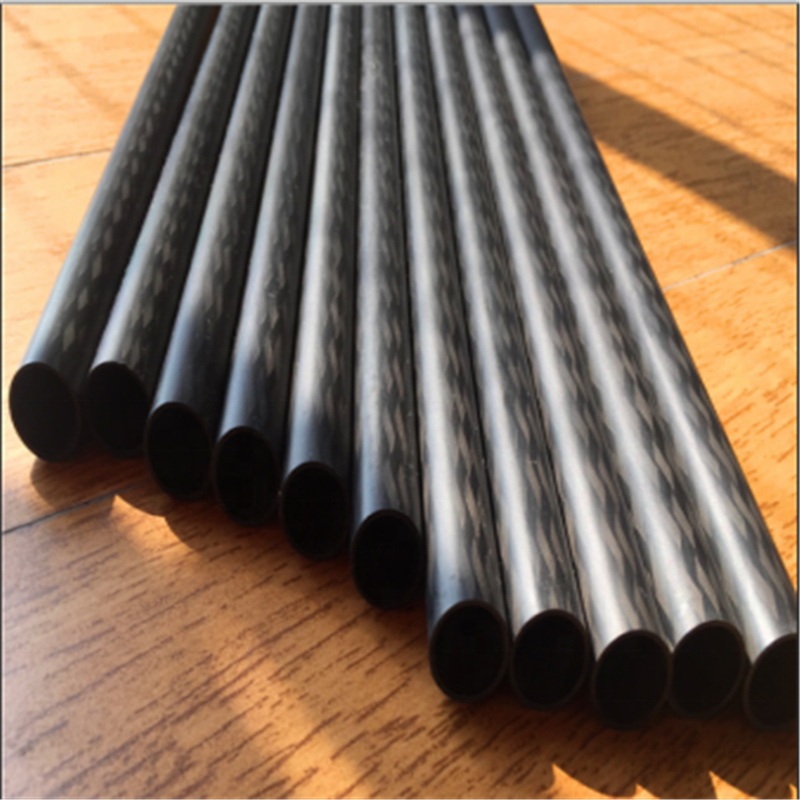 Ultra-long carbon fibre tube /CRP pul-braided tube/oval tube  with twill surface