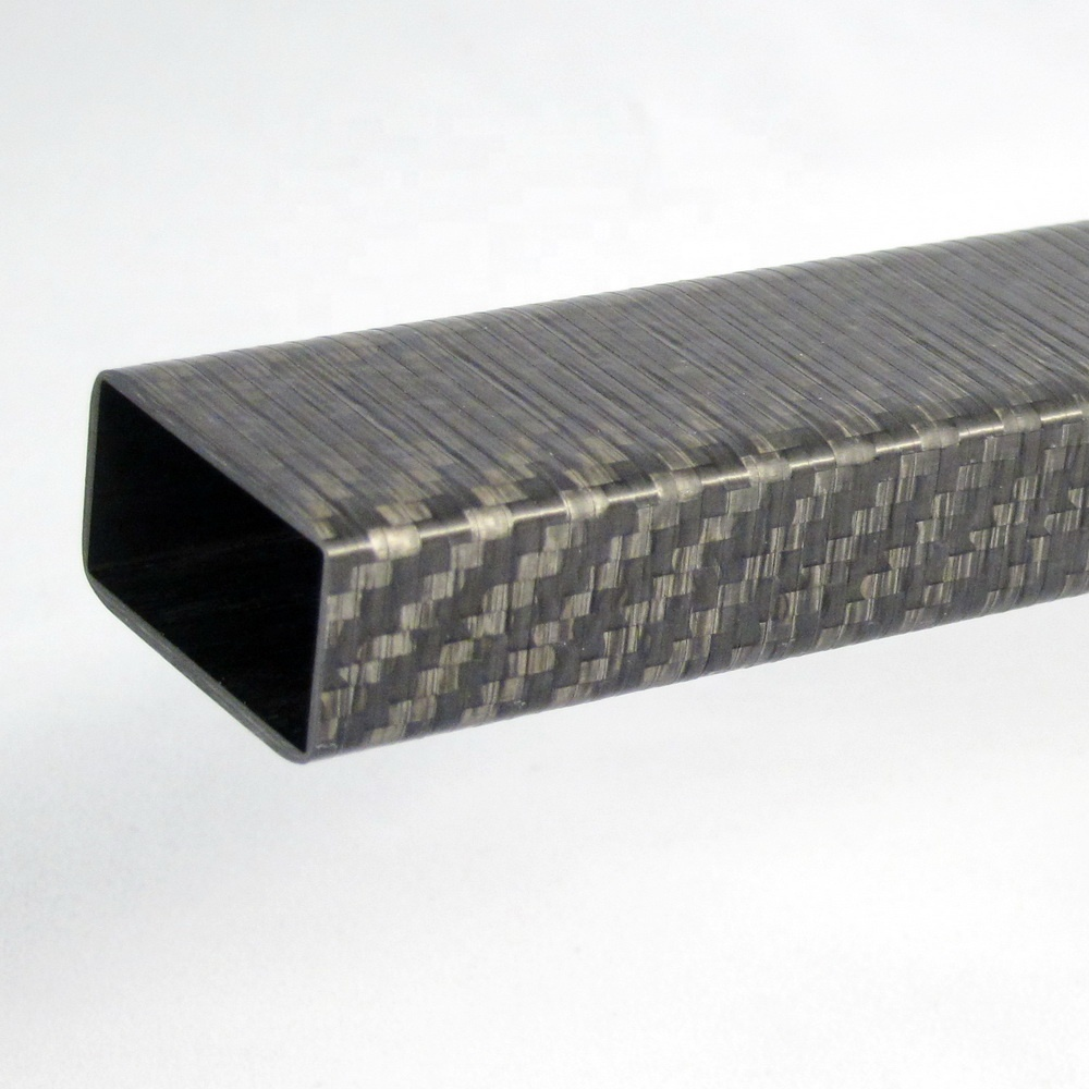 High strength light weight carbon fiber square tube tubing with 3K plain twill for drone UVA