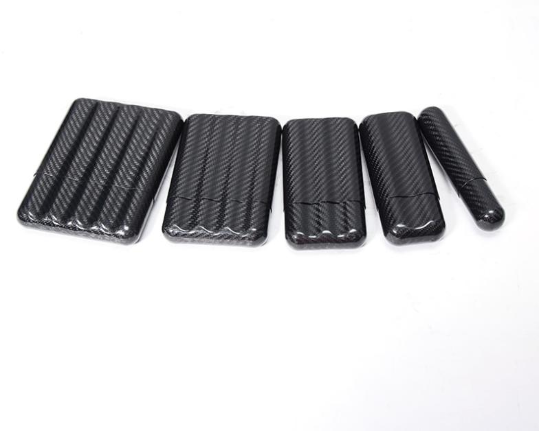 New design matte glossy full carbon fiber 2 3 4 pcs cigar case humidor, brands souvenir