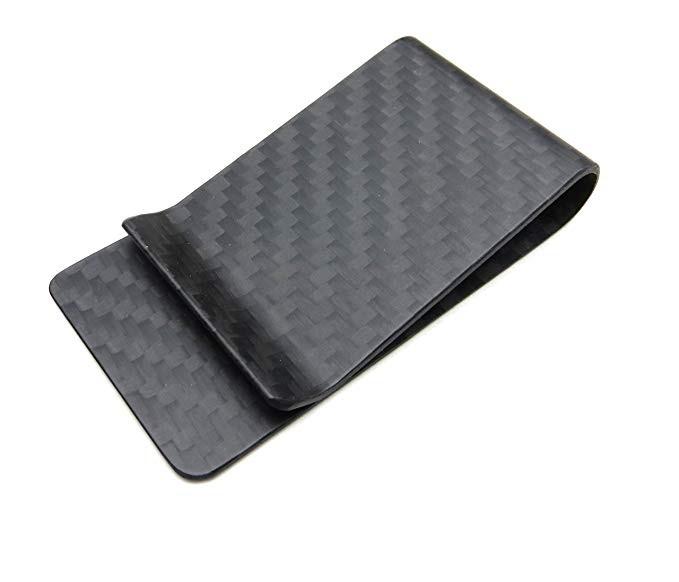 3K weave carbon fiber money clip cash credit cards holder Featured Image