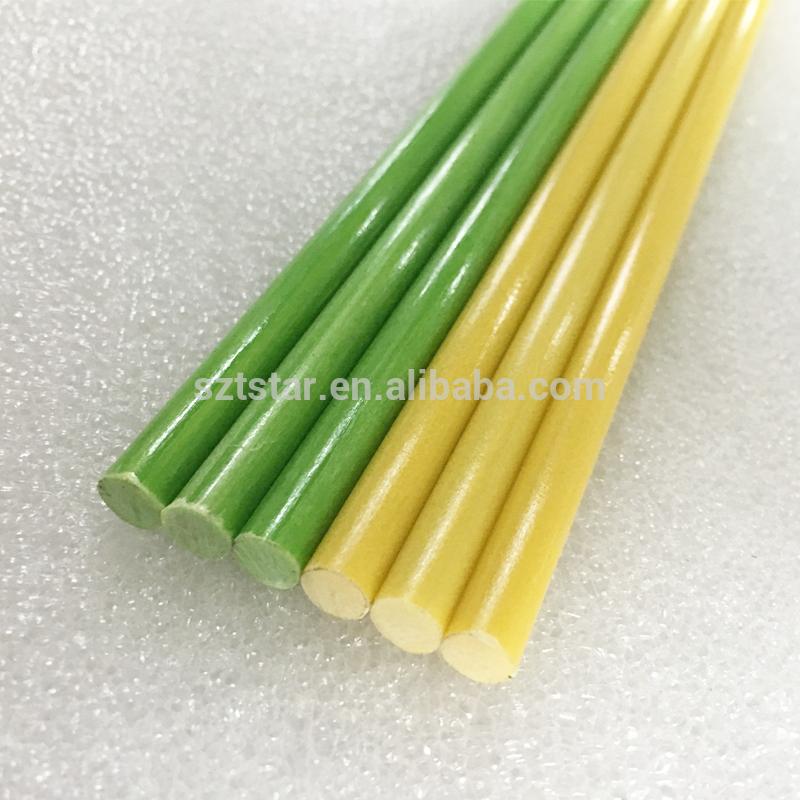 Hot selling rod fiberglass ,colourful glass fiber rod for outdoor activities,high strength and toughness fiberglass