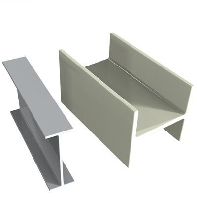 high strengthness Epoxy Resin fiberglass FRP U  shape beam profile for construction