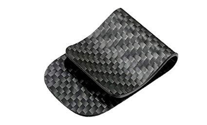 3K weave carbon fiber money clip cash credit cards holder