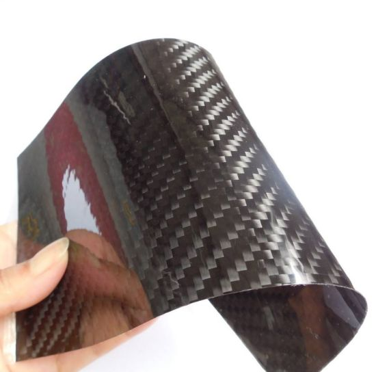 thinnest of 0.2mm 0.3mm 3K weave glossy matte carbon fiber sheet plate