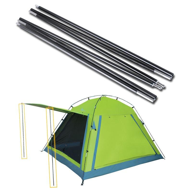 white color pultrusion fiberglass camping tent pole