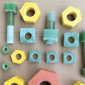 Epoxy resin and fiberglass made insulated bolt with high strength